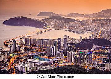 Busan, South Korea - Skyline of Busan, South Korea at...