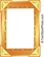 golden frame with transparent space insert for picture
