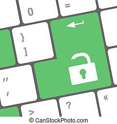 open lock button on the keyboard key