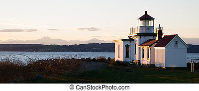 Discovery Park West Point Lighthouse Puget Sound Seattle -...
