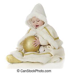 Baby Snow Princess - A beautiful baby snow princess gazing...