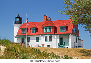 Lighthouse at Point Betsie - Michigan's Point Betsie...