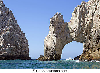 baja california - Los Arcos rock formation at Cabo San...