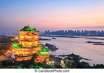 nanchang tengwang pavilion in sunset - beautiful nanchang...
