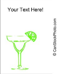 Margarita Glass - An abstract margarita glass with a line on...