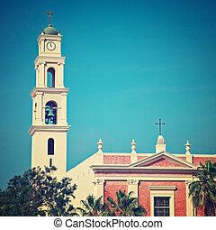Tel Aviv, Old Jaffa - St. Peter's Church - Jaffa is an...