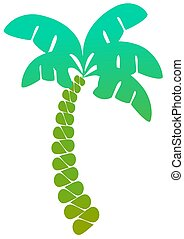 Palm Tree - An abstract palm tree over a white background