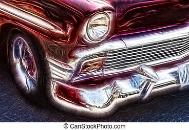 Nostalgic Car - Abstract Car Image