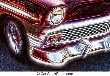 Nostalgic Car - Abstract Car Image