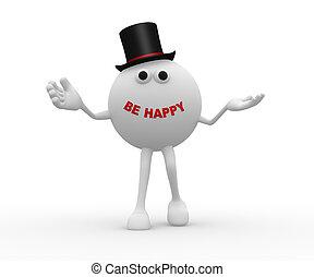 sein, glücklich