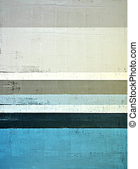 Teal and Grey Abstract Art