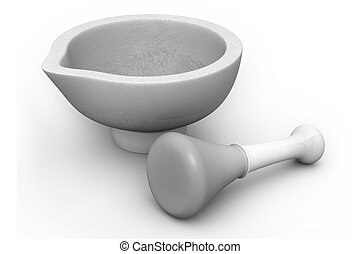 Mortar and Pestle. Herbal Medicine Concept