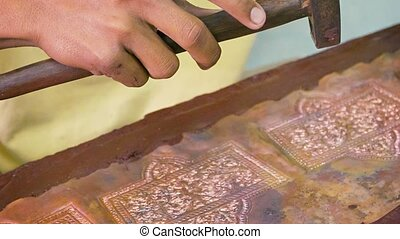 Making repousse. Workshop in Cambodia,Siem Reap - Video...