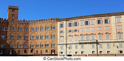 Palazzi Piazza del Campo Siena - Palazzo Chigi Zondadari and...