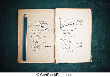 Math functions and thermodynamics calculations in old book