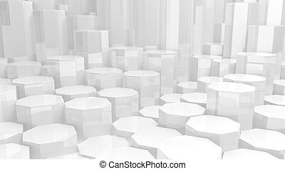 White abstract conceptual geometrical background