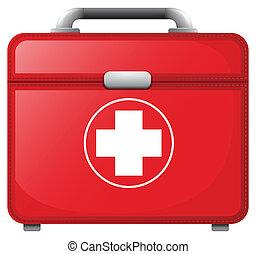 A red medical bag