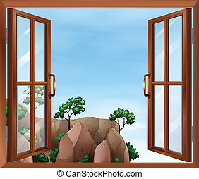 A window across the cliff