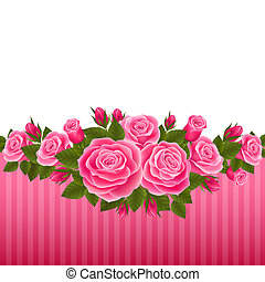 Roses - Vector illustration festive postcards with roses