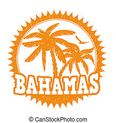 Bahamas stamp - Bahamas travel rubber stamp on white, vector...