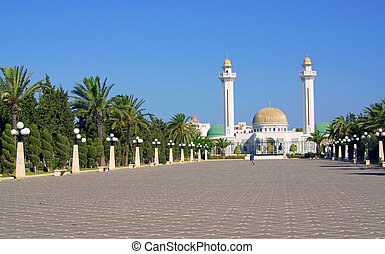 Mausoleum of Bourguiba in Tunisia in Africa in summer day