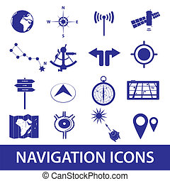 navigation icons set eps10