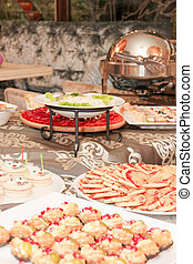 catering food on the table