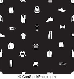mens clothing icon pattern eps10