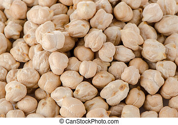 Chickpeas isolated on white background.