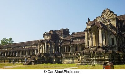 Angkor Thom wat temple in Cambodia - Video 1920x1080 -...