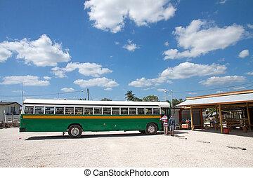 Bus station, Belize - A bus station in Belize