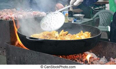 shashlik, kebab, barbecue, grill - shashlik (kebab) under...