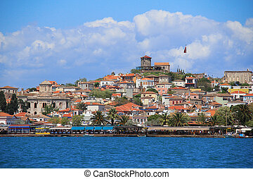 the old town, Cunda, Ayvalik - view of the old town, Cunda,...