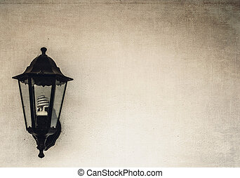 wall lamp with background