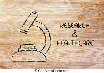 science tools: microscope for research and healthcare -...