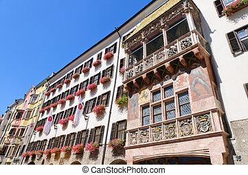 Innsbruck, Austria - Goldenes Dachl in Innsbruck. Innsbruck...