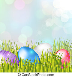 Easter Eggs Background