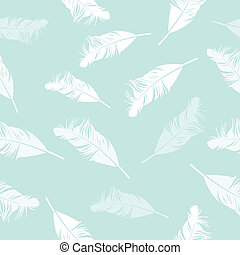 Feather seamless background Vector illustration