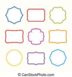 Colorful frames. Vector set.