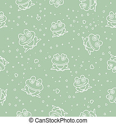 Frog seamless background.