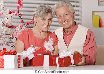 Senior couple spending time together - Portrait of a happy...