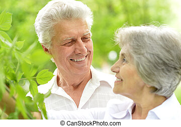 vhappy middle-aged couple - portrait of a happy middle-aged...