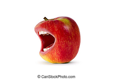 red angry apple