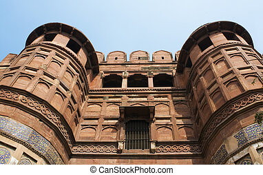 Amar Singh Gate at the Red Fort, Agra, India
