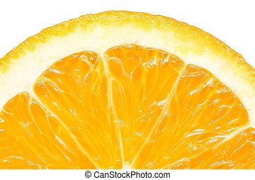 Orange Slice Peel Isolated - Extreme Macro Of Orange Slice...