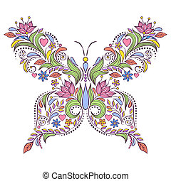 floral butterfly
