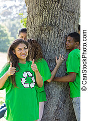 Environmentalists in park