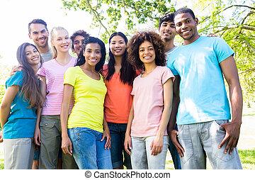 Confident university students - Portrait of confident...