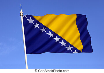The flag of Bosnia and Herzegovina - Flag of Bosnia and...