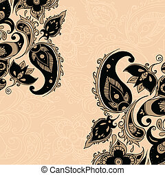 Paisley background - Paisley ornament background Vector...